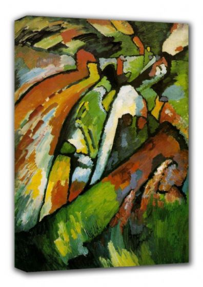 Kandinsky, Wassily: Improvisation VII (7). Fine Art Canvas. Sizes: A3/A2/A1 (00532)